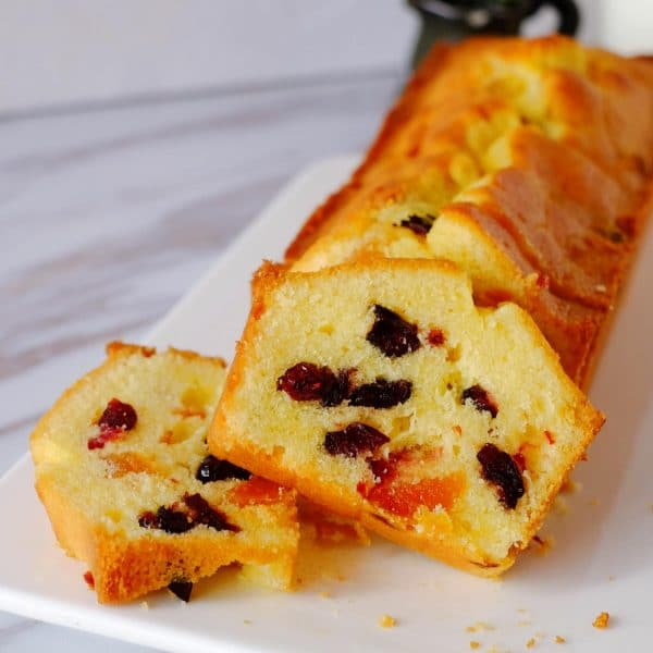 Cranberries Apricot Loaf Cake