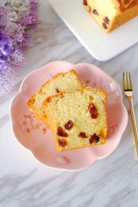 Almond Cranberry Butter Loaf Cake